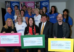 3 charity cheques
